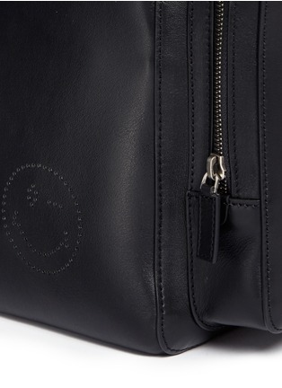 Detail View - Click To Enlarge - Anya Hindmarch - 'Wink' perforated leather backpack