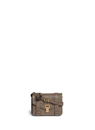 Main View - Click To Enlarge - Proenza Schouler - 'PS1' mini leather crossbody satchel