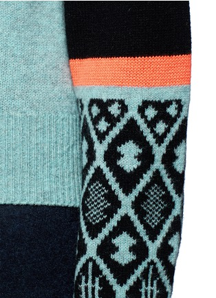 Detail View - Click To Enlarge - TOGA ARCHIVES - Colourblock geometric intarsia wool blend sweater