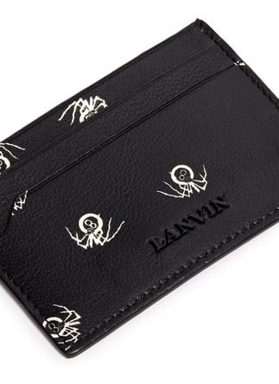 Detail View - Click To Enlarge - Lanvin - Black widow print leather card case