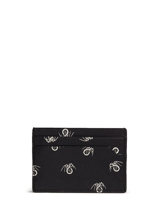 Figure View - Click To Enlarge - Lanvin - Black widow print leather card case