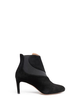Main View - Click To Enlarge - Alaïa - Wavy side gores suede ankle boots