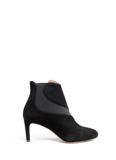 Azzedine AlaïaWavy side gores suede ankle boots