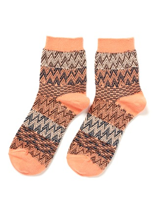 HANSEL FROM BASEL-Collage knit crew socks