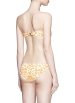 'Antibes' scalloped edge floral bikini bottoms