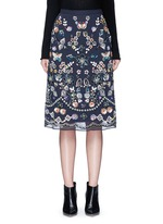 'Butterfly Garden' embellished georgette skirt