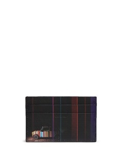 Paul Smith 'Mini Graphic Edge' print saffiano leather card holder