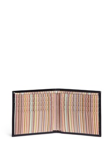 Paul Smith Signature stripe leather bifold wallet