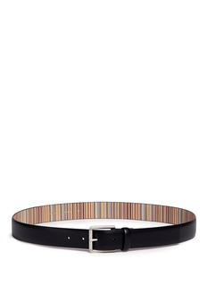 Paul Smith Stripe interior leather belt