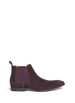 Main View - Click To Enlarge - Paul Smith - 'Falconer' suede Chelsea boots