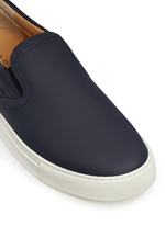 'Ethan Jones' suede trim tech leather skate slip-ons