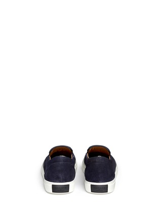 Back View - Click To Enlarge - Harrys Of London - 'Ethan Jones' suede trim tech leather skate slip-ons