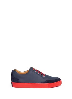 Harrys Of London 'Mr Jones 2' suede trim tech leather sneakers