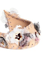 'Pia' floral appliqué rabbit furfelt crown headband