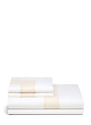 Main View - Click To Enlarge - Frette - Bicolore linen king size duvet set