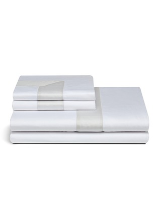 Main View - Click To Enlarge - Frette - Bicolore king size duvet set