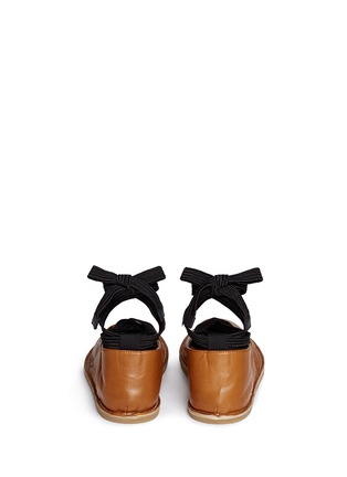 Back View - Click To Enlarge - Dries Van Noten - Lace-up leather ballerina flats