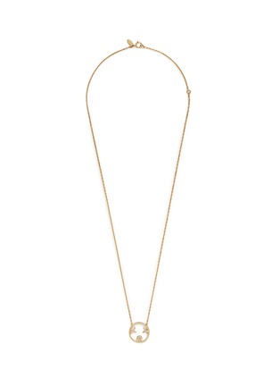 Main View - Click To Enlarge - Ruifier - 'XOXO' diamond 9k yellow gold pendant necklace