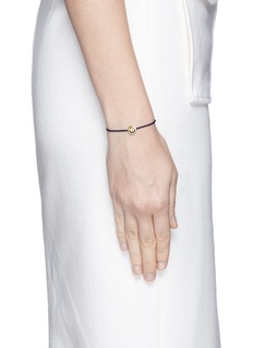 Ruifier 'Happy' 18k yellow gold charm cord bracelet