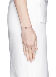 Ruifier'Smitten' 18k rose gold charm cord bracelet