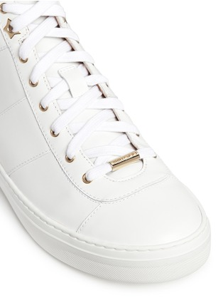 Detail View - Click To Enlarge - Jimmy Choo - 'Bells' panelled leather mid top sneakers