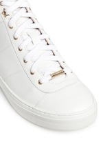 'Bells' panelled leather mid top sneakers