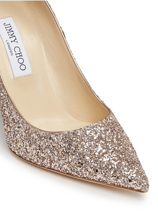 Detail View - Click To Enlarge - Jimmy Choo - 'Abel' coarse glitter pumps