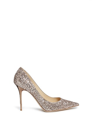 Main View - Click To Enlarge - Jimmy Choo - 'Abel' coarse glitter pumps