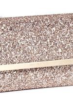 'Margot' coarse glitter flat clutch