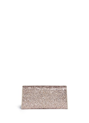 Back View - Click To Enlarge - Jimmy Choo - 'Margot' coarse glitter flat clutch