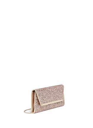 Front View - Click To Enlarge - Jimmy Choo - 'Margot' coarse glitter flat clutch