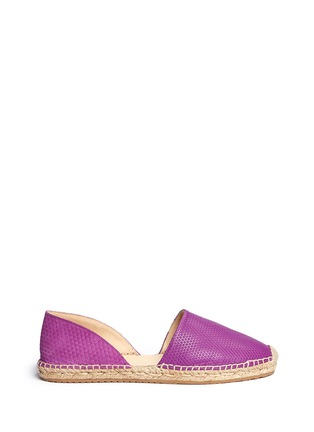 Main View - Click To Enlarge - Jimmy Choo - 'Dreya' suede embossed leather combo d'Orsay espadrilles