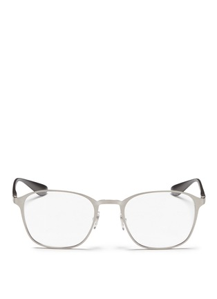 Ray-Ban - Square metal frame optical glasses