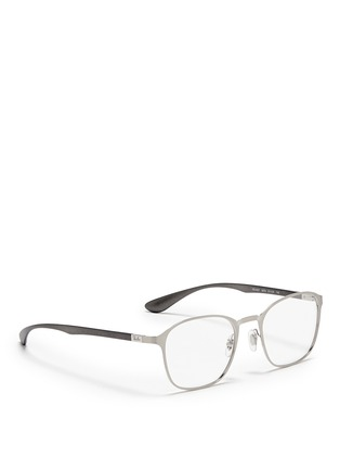 Figure View - Click To Enlarge - Ray-Ban - Square metal frame optical glasses