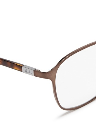 Detail View - Click To Enlarge - Ray-Ban - Square metal frame optical glasses