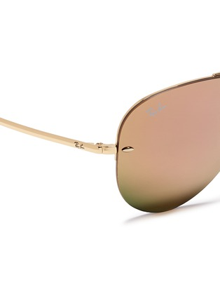 Detail View - Click To Enlarge - Ray-Ban - 'RB3449' aviator mirror sunglasses