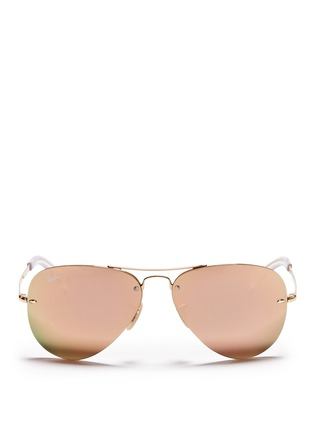 Main View - Click To Enlarge - Ray-Ban - 'RB3449' aviator mirror sunglasses
