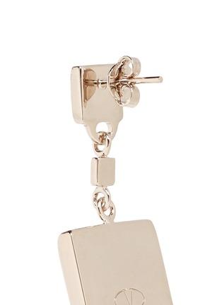 Detail View - Click To Enlarge - Valentino - 'Rockstud' macro drop earrings