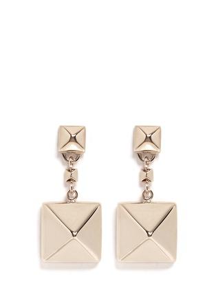 Main View - Click To Enlarge - Valentino - 'Rockstud' macro drop earrings