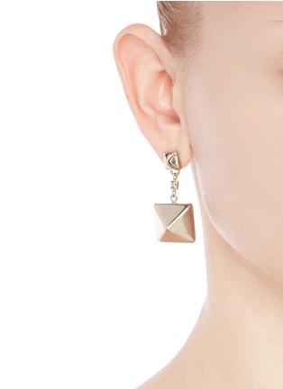 Figure View - Click To Enlarge - Valentino - 'Rockstud' macro drop earrings