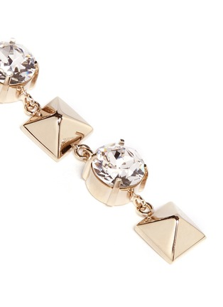 Detail View - Click To Enlarge - Valentino - Crystal Rockstud drop earrings
