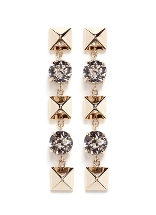 Main View - Click To Enlarge - Valentino - Crystal Rockstud drop earrings