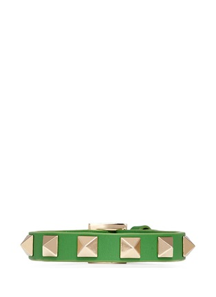 Main View - Click To Enlarge - Valentino - 'Rockstud' skinny leather bracelet