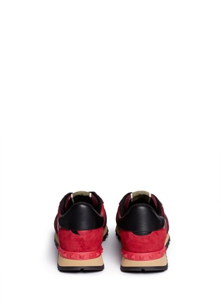 Back View - Click To Enlarge - Valentino - Camouflage suede trim sneakers