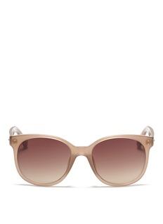 LINDA FARROWRound acetate sunglasses