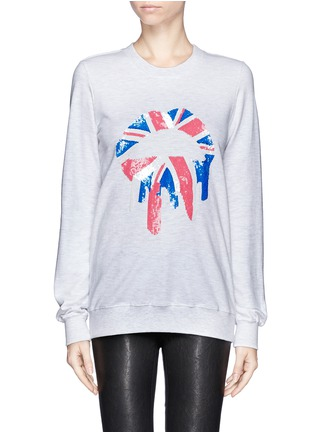 Main View - Click To Enlarge - MARKUS LUPFER - 'Union Jack Drip Lip' sequin sweatshirt