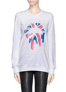 MARKUS LUPFER 'Union Jack Drip Lip' sequin sweatshirt