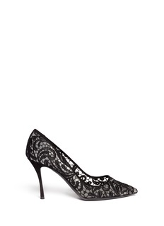 NICHOLAS KIRKWOOD Lace embroidery mesh pumps
