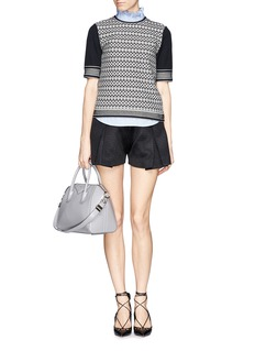 TORY BURCH 'Monique' contrast knit sweater