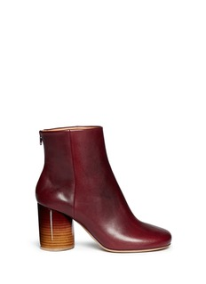 MAISON MARTIN MARGIELA Round heel burnish leather ankle boots